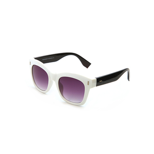 FONHCOO Cheap Customized White Square Frame Black Temple Sun Glasses Sunglasses
