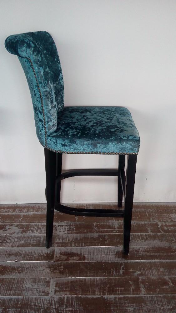 d 39 ameublement tuft s velours tissu tabouret de bar chaise bar en bois chaise vendre chaise. Black Bedroom Furniture Sets. Home Design Ideas