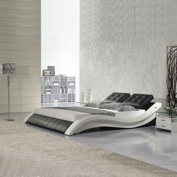 Special S Shaped Modern Design Leather Bed Used Bedroom Furniture Double