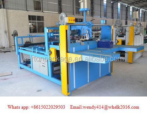 semi-automatic corrugated cardboard gluing machine/paper gluing for box