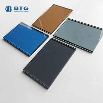 4mm 5mm 6mm crystal grey tinted blue annealed laminated glass