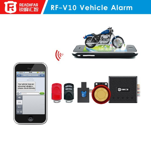 Rf-v10 Gsm Sms Tracker And Motorcycle Alarm Security System 2 Two ...