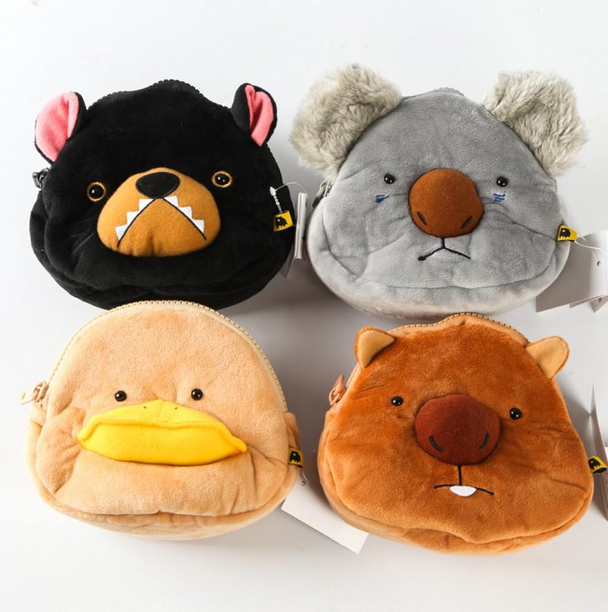 New style Japan wombat family cartoon platypus plush Drawstring pouch 16 15cm 20160328