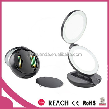 Battery Lighted Diy Desktop Makeup Mirror With Customized Logo ...