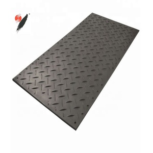 UHMWPE Ground Protection mat black cheap price used plastic excavator trackway 4x8 ft ground protection mats for heavy equipment