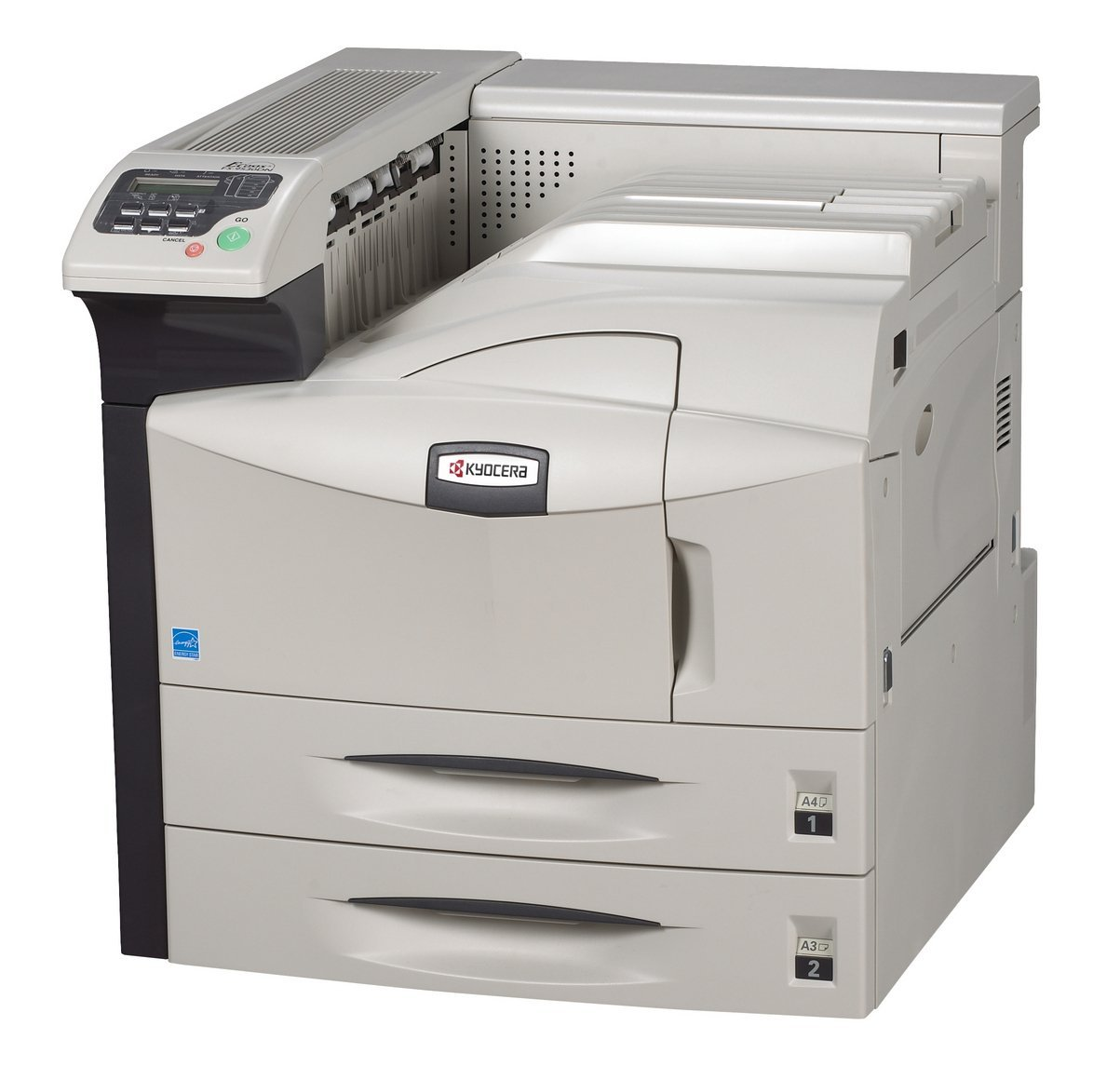 Kyocera 1102G12US0 model FS-9530DN 51 PPM B/W Black & White Laser Printer, Up to 51 ppm - B/W - A4 (8.25 in x 11.7 in), Up to 26 ppm - B/W - A3 (11.7 in x 16.5 in), Status LCD Built-in Devices, Wired Connectivity Technology, Parallel, USB, Ethernet 10/100Base-TX Interface, 1800 dpi x 600 dpi Max