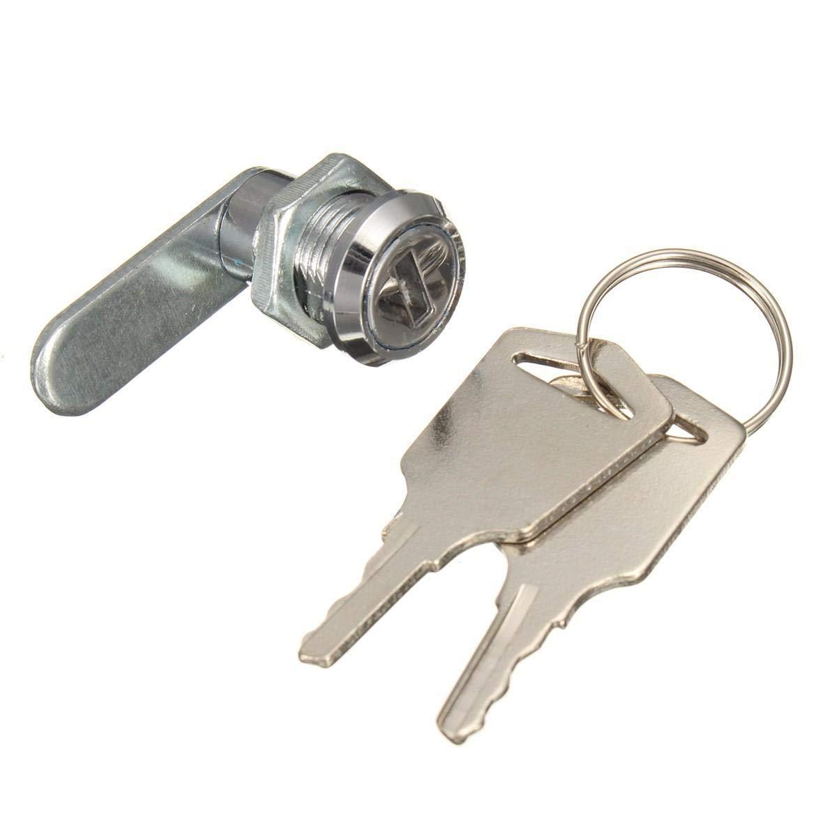 16mm Keyed Cam Lock For Filing Cabinet Mailbox Drawer Cupboard with 2 Keys - Hardware & Accessories Door Hardware & Locks - 1 x Cam lock