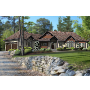 Car Garage+3 bedrooms wooden house DY-G-012