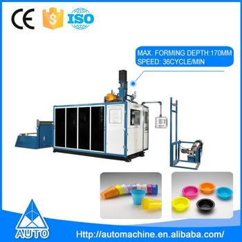 Easy to operate fully automatic disposable plastic cup making machine