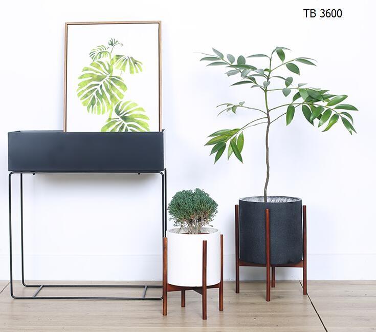 Indoor Planters Concrete Planter Pot With Modern Plant