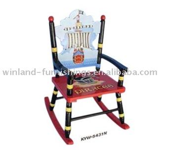 Kids Wooden Furniture Pirate Ship Rocking Chair/ Rocker