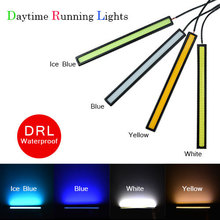 Ultra Bright LED Daytime Running lights DC 12V 17cm 100% Waterproof Auto Car DRL COB Driving Fog lamp