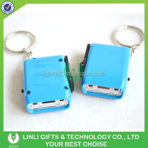 High Quality Colorful Dynamo LED Keychain for promotional Gifts