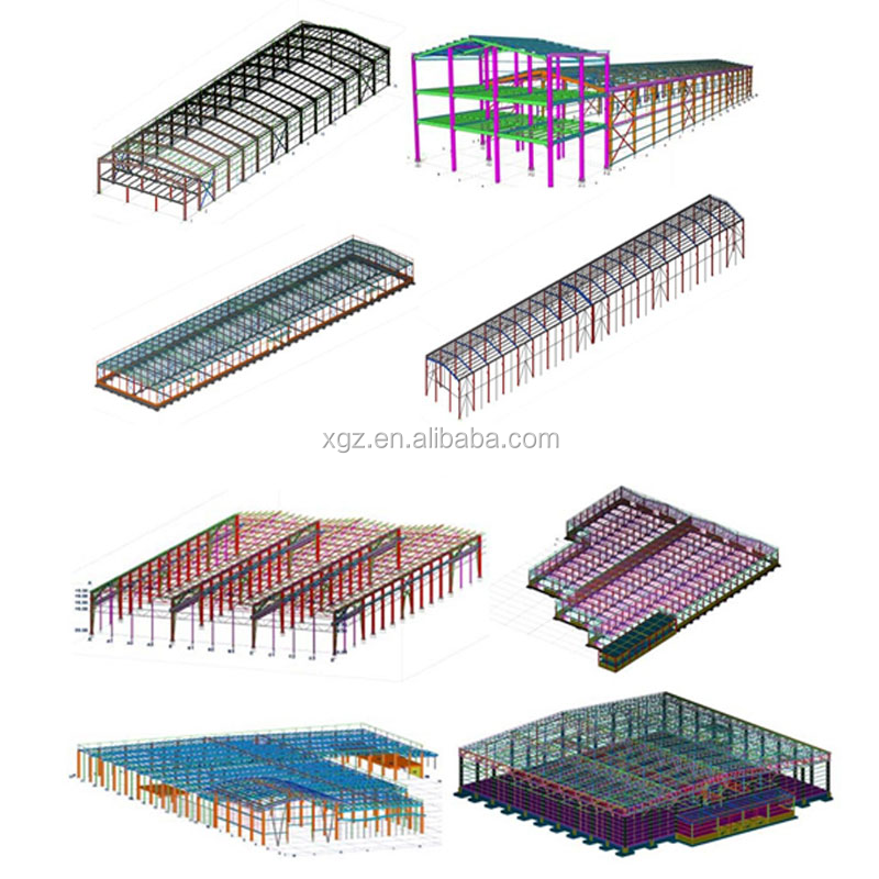 Cold formed steel frame prefab house steel structure warehouse building from China XGZ
