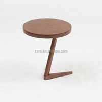 Round Top Side Table Solid Wood Living Room Dining Chair and End table