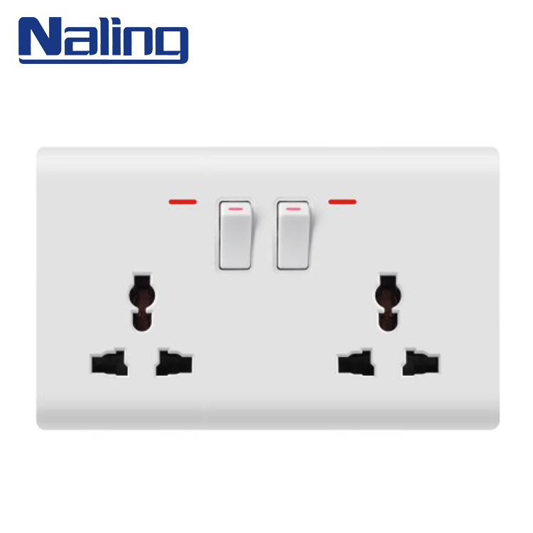 Naling Oem Customized Size Electric Home Multi 2 Gang 2