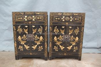 Chinese Antieke Meubelen Gouden Vlinder Bedside Chinese Antieke Zwarte Kast Buy Chinese Antieke Kastchinese Antieke Meubelenmeubels Kast Product