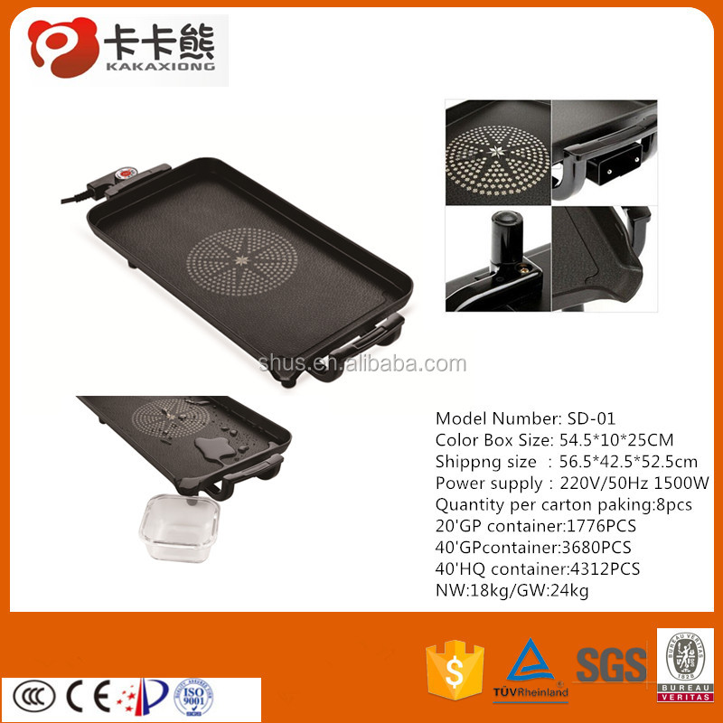 Easily Cleaned Feature and nylon Plastic Type electrical grill