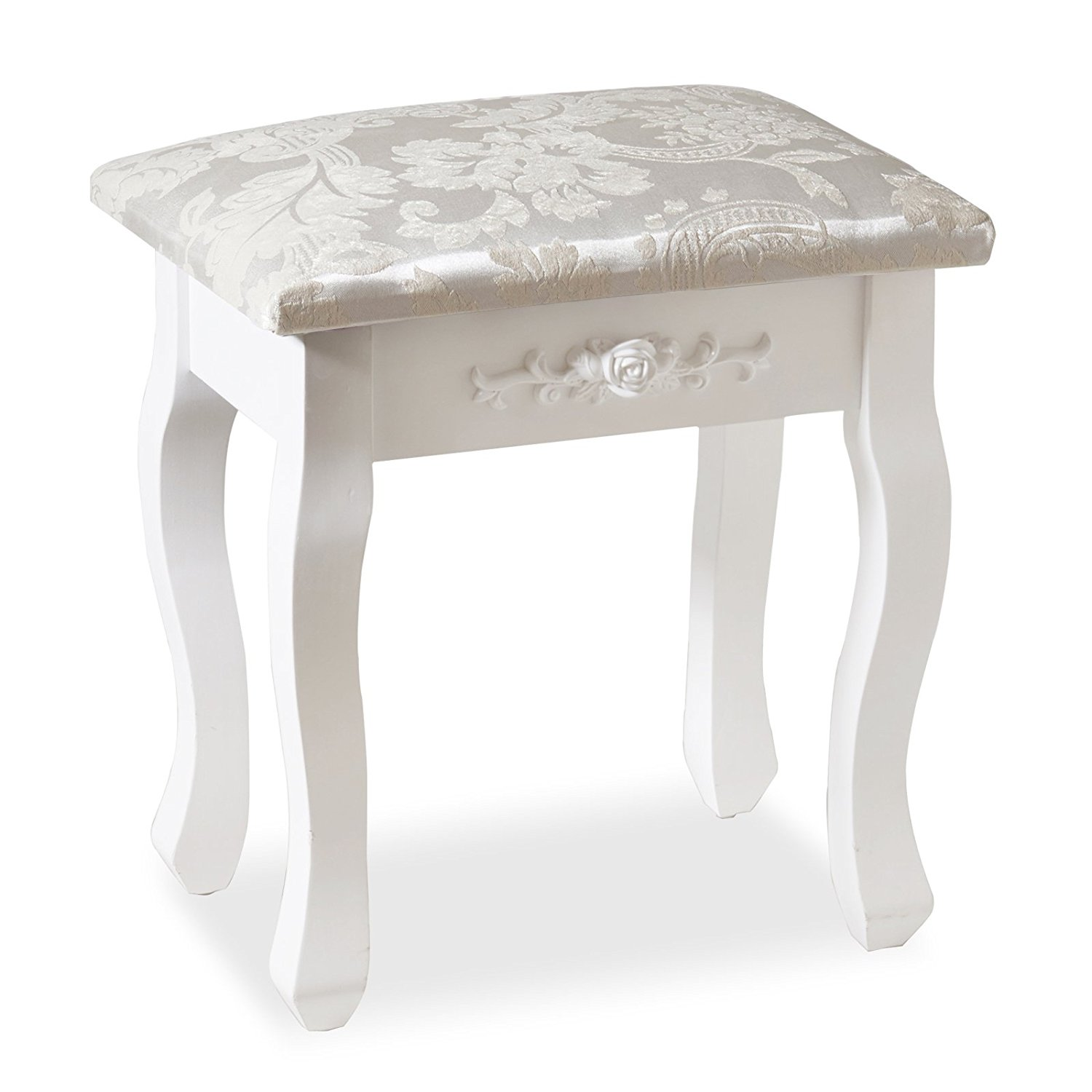 Elegant Vintage Dressing Table Stool Padded Piano Chair Makeup Padded Seat NEW
