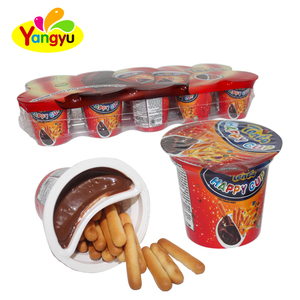 15g Sweet Chocolate With Biscuit Stick Cup