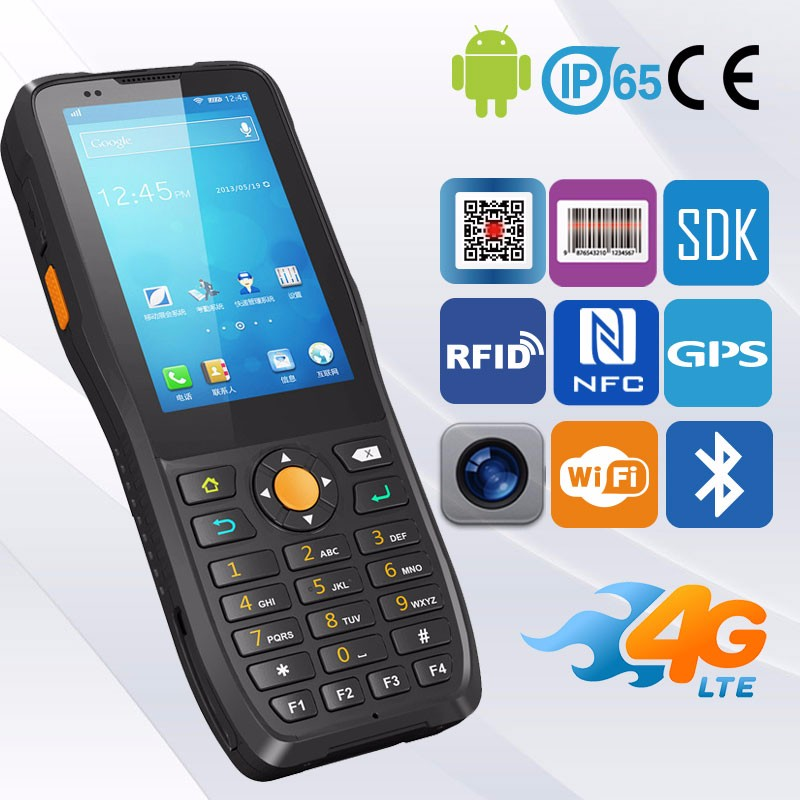 4G PDA High Programmable Android 6.0 Micro Usb Barcode Scanner