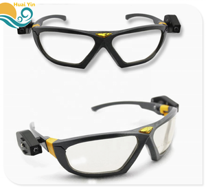 New anti - shock with LED lights goggles anti- UV protective safety glasses