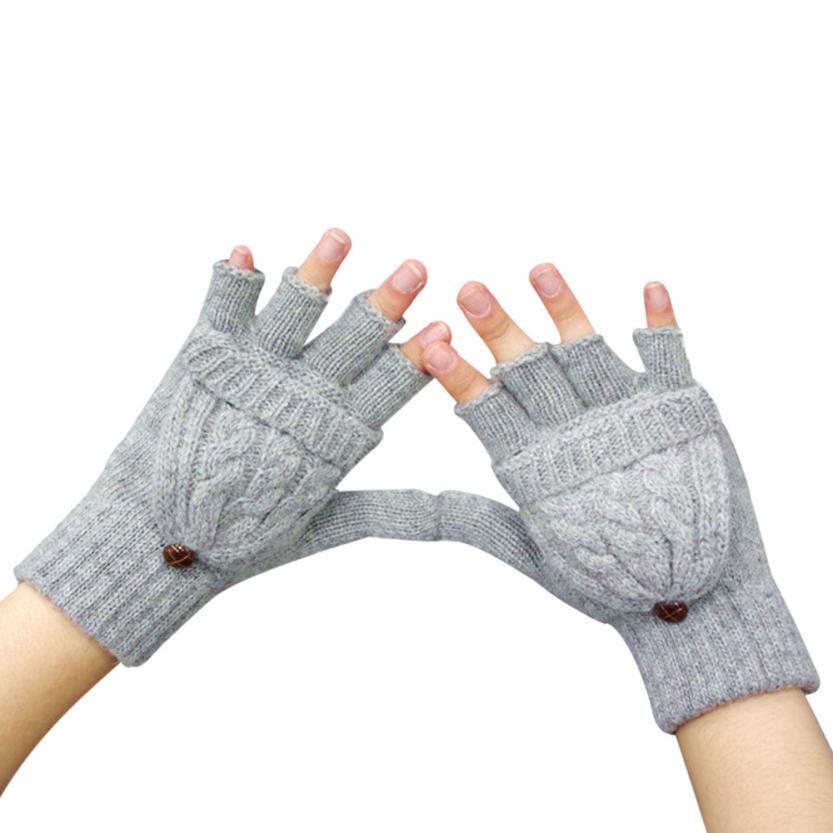 Прикольные зимние перчатки автомобильные перчатки женские короткие без пальцев