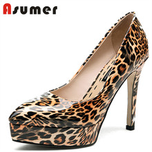 Asumer ladies sexy material platform shoes high heels online