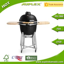 AUPLEX Kamado BBQ Ceramic Grills 21 Inch Black Charcoal Barbecue Smokers