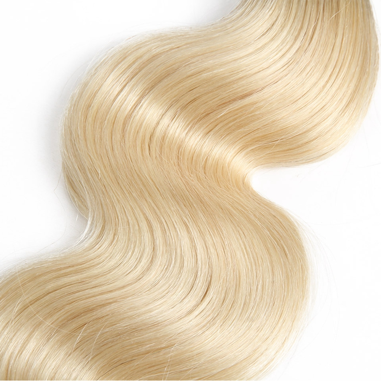 Top Selling Ombre 1B 613 blonde Human hair bundles Wholesale Unprocessed Cuticle Aligned Virgin Brazilian hair extensions