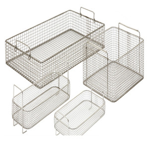 Heat resistance 28 x 20 x 6cm Stainless Steel Sterilization basket for Surgical Instruments