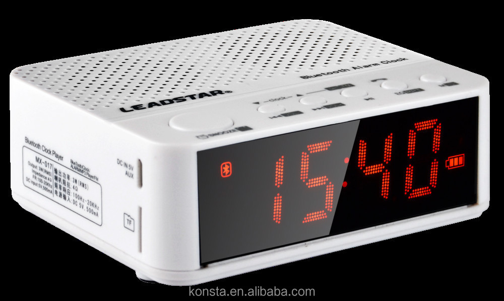Stereo Bluetooth Radio Speaker With Alarm Clock Functions Works ...
