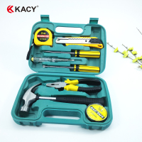 KACY TS09 9PCS SMALL PORTABLE HOUSEHOLD HAND TOOL SET WITH STOCK