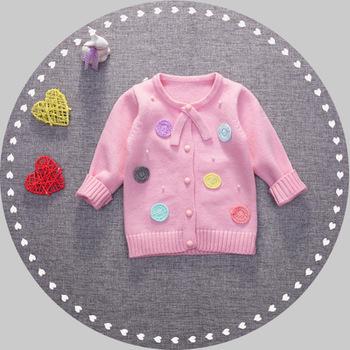 7d367e97da7bd Nouveau-né Bébé Vêtements Conception Combinaison De Couleur En Gros Pull En  Laine Pour Fille