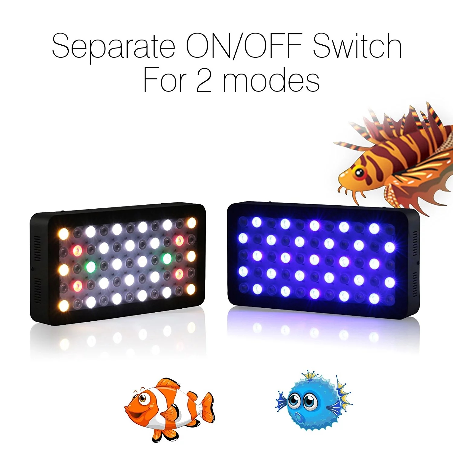 2018 Hot Sale 165W Dimmable Full spectrum intelligent led aquarium light for Coral Reef waterplantsTank&Coral Reef