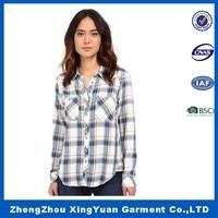 women/ladies plaid shirts famous brand shirts extra long sleeve shirts