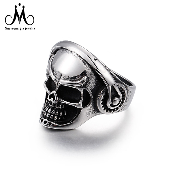 Manufacturer 316 Stainless Steel Silver Buffalo Ring Men Jewelry