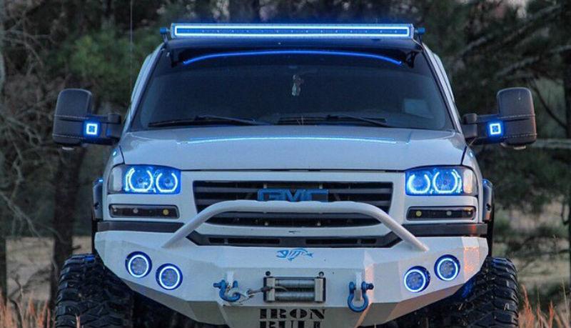 Custom rgb color changing led light bars halo ring headlight for gmc custom rgb color changing led light bars halo ring headlight for gmc aloadofball Gallery