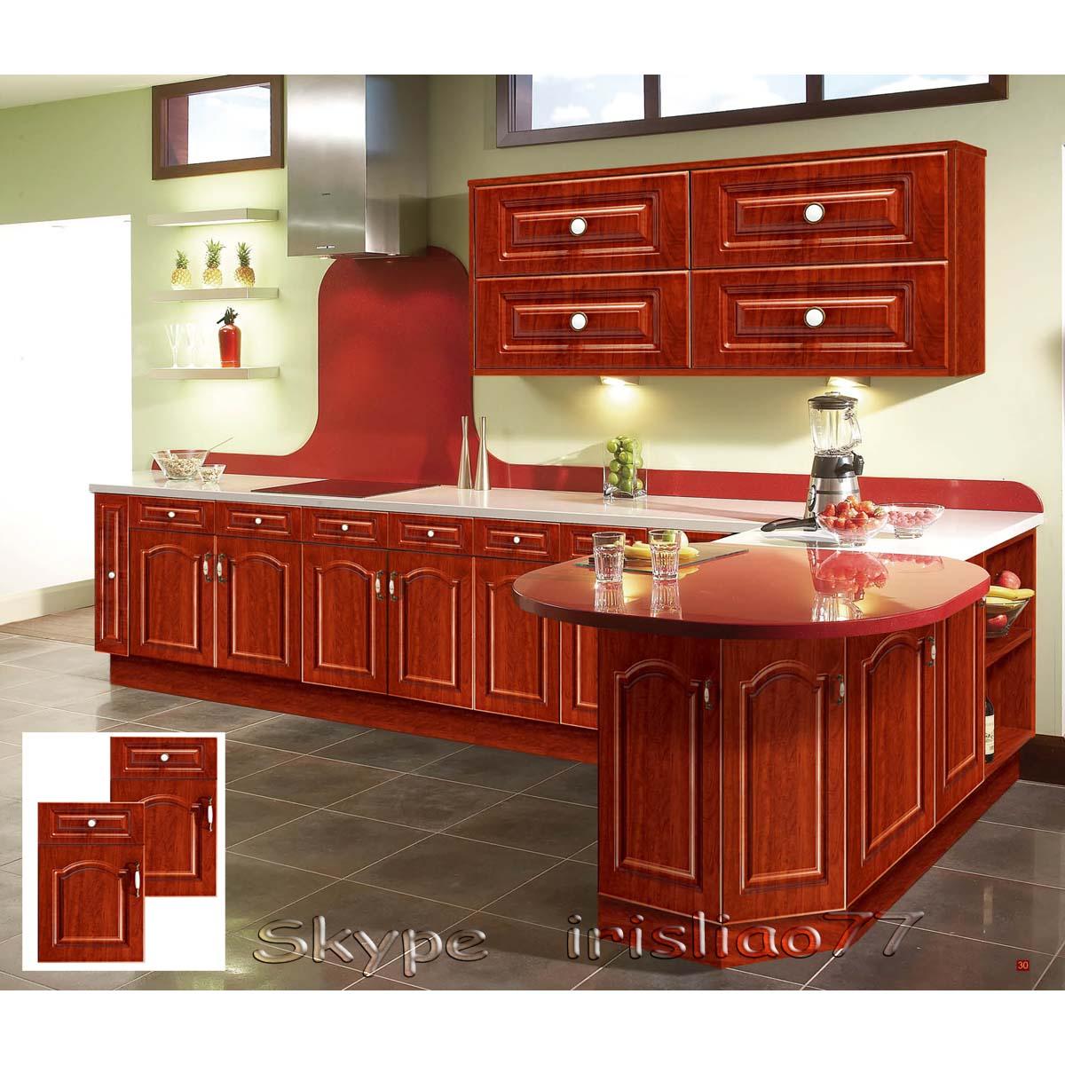 cocina de madera sólida del gabinete de diseño-Cocinas ...