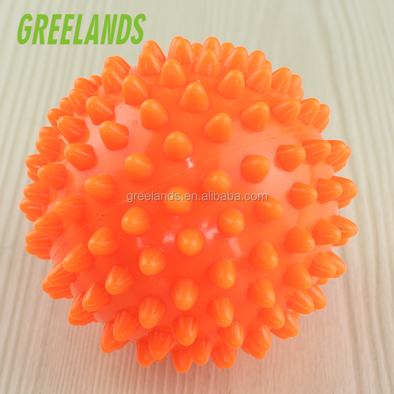Stress Reflexology Porcupine Sensory Ball Set , PVC Spiky Massage Ball For Yoga Fitness Pilates Exercise Physical Therapy