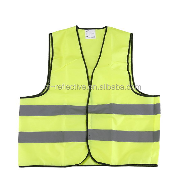 v-neck high visibility work t-shirt cotton reflective safety worker vest