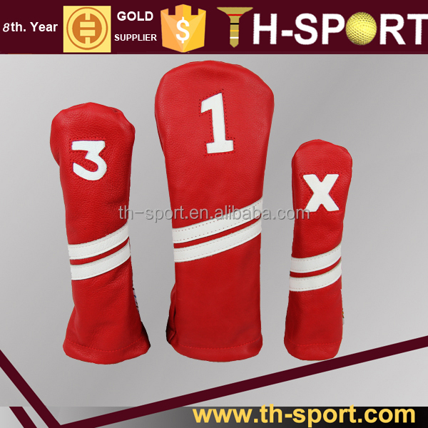Durable Synthetic leather Custom golf head covers