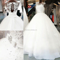2018 new wedding dress wholesale Bridal wedding high-end lace hollowed-out wedding dress custom-made