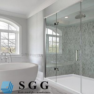 China frameless hand clean bath room flat glasses manufacturers