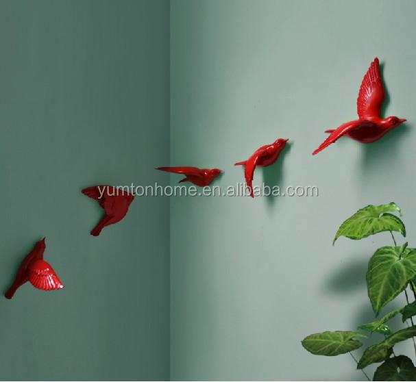 3d Wall Decor Birds : Resin d lovely birds crafts wall art decor view