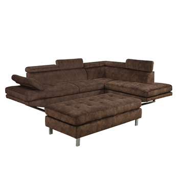 Cheap Brown Fabric Corner Sofa MenzilperdeNet
