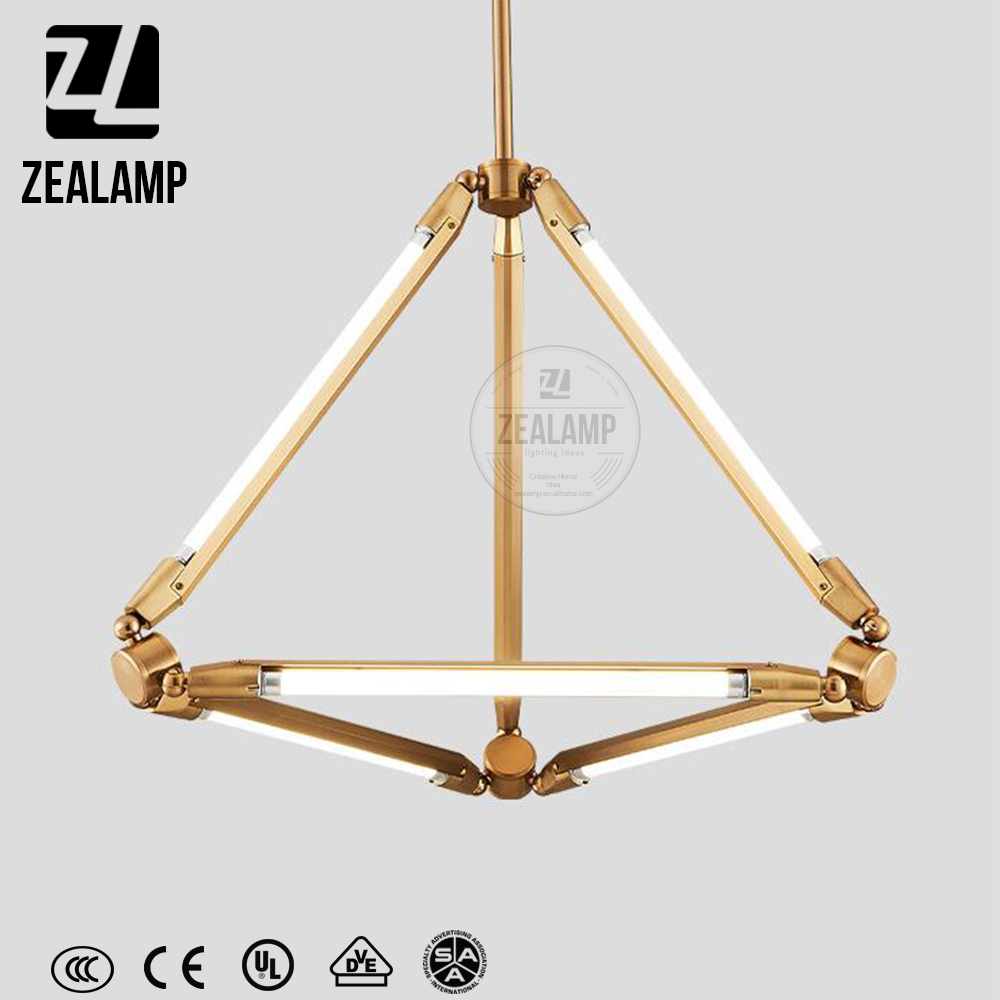ZLC222P Nordic Fashion Designer Postmodern Pendant Lamp Bamboo Hanging Light Hotel Bar Chandelier
