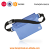 Waterproof Waist Pouch Large Travel Bag with Adjustable Long Waist Strap& Buckle, Transparent Blue Design