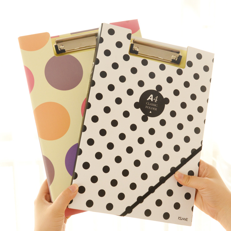 Wholesale document holder double clip A4 paper clipboard with elastic band