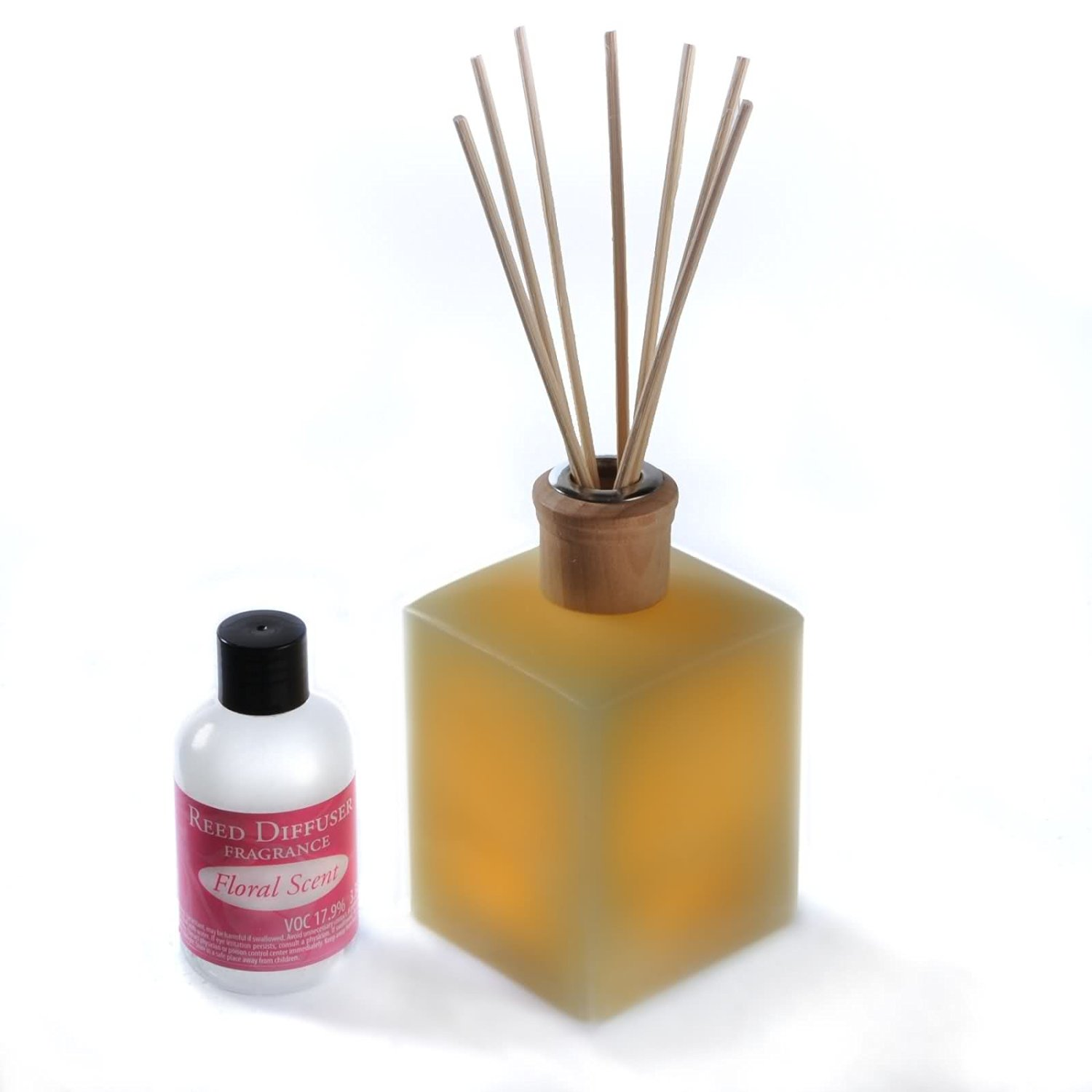 Get Quotations Candletek Décor Fluted Flameless Candle Reed Diffuser With Fresh Fl Scent